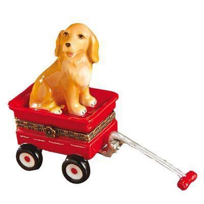 Porcelain Dog Trinket Box - Retriever