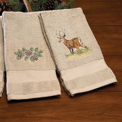 Wildlife Embroidered Towels - Set of 3