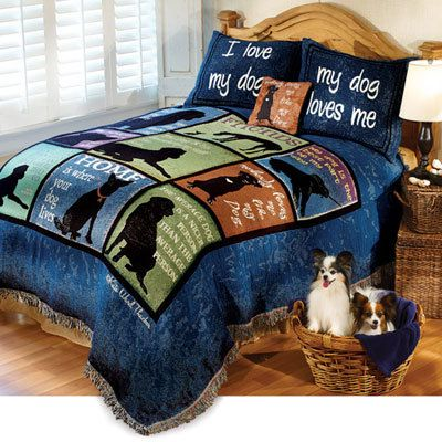 Love My Dog Tapestry Coverlet & Accessory