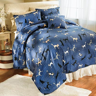 Cuddly Cats Fleece Standard Sham