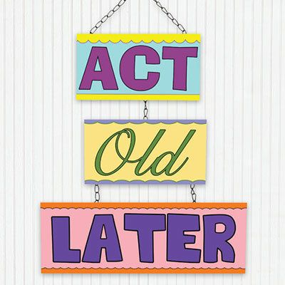 Act Old Later Tin Hanging