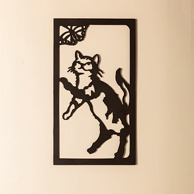 Frisky Friend Metal Wall Art