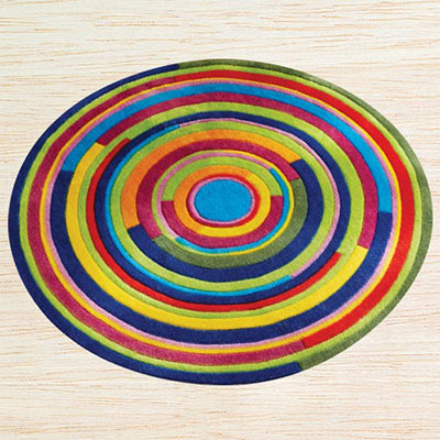 Colorful Swirl Rug