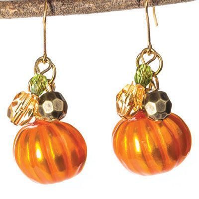 Shimmering Pumpkin Earrings