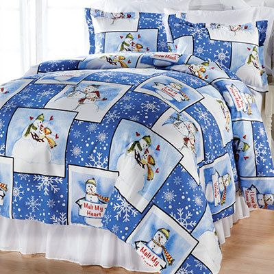Snow People in Love Duvet Set