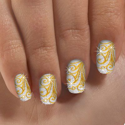 Romantic Scroll Nail Appliqués