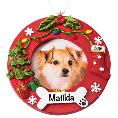 Personalized Dog Ornament Frame