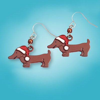 Christmas Doxie Earrings