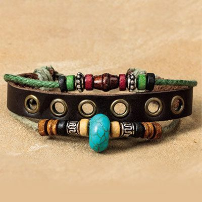 Safari Leather Bracelet