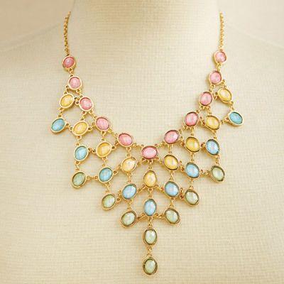 Tiered Pastel Rainbow Necklace
