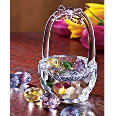 Faceted Crystal Easter Basket