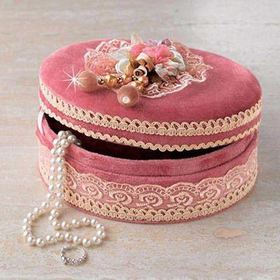 Victorian Velvet Jewelry Box