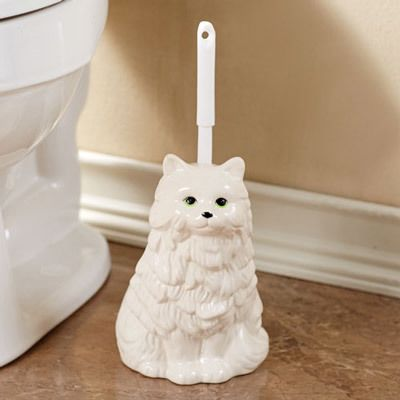 Clever Cat Toilet Brush Holder