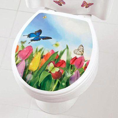Butterfly Toilet Appliqué