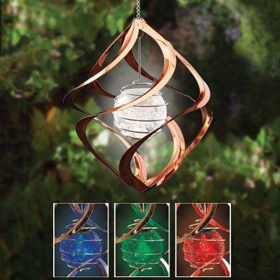 Copper Solar Spinner