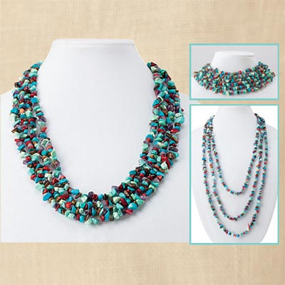 Timeless Colorful Stone Chip Necklace