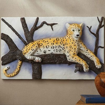 3-D Leopard Wall Plaque