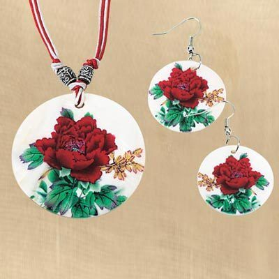 Rose Blossom Shell Jewelry