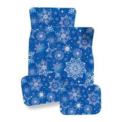 Snowflakes Car Mat Set