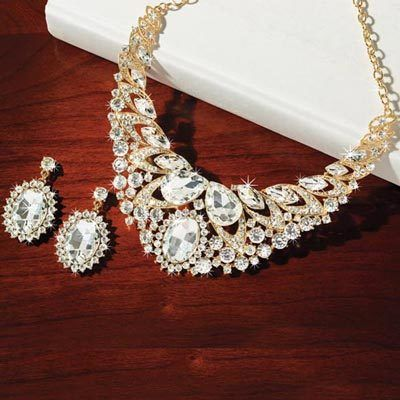 Extravagant Bling Jewelry Set