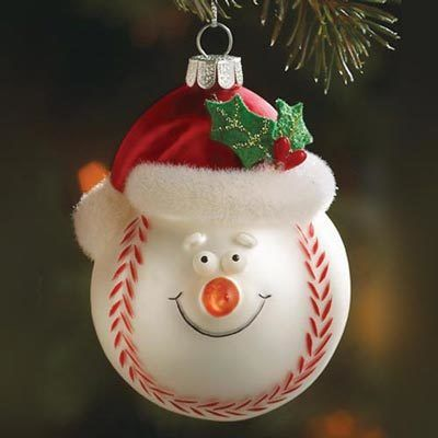 Sporty Santa Ornament
