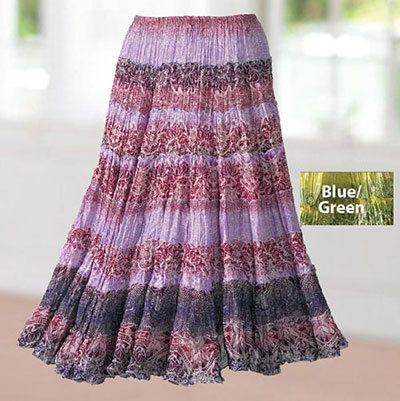 Crinkle Cotton Skirt