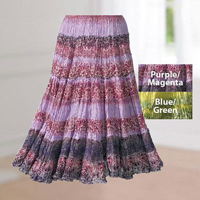 Crinkle Cotton Skirt