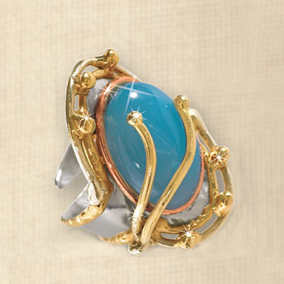Seafoam Chalcedony Ring