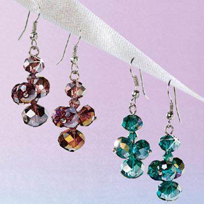 Marine Crystal Drop Earrings