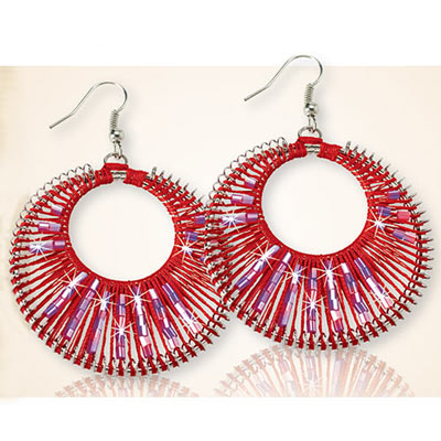 Mystic Red Woven Earrings