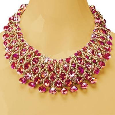 Shimmering Ruby Necklace