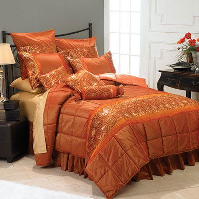 Orange Sunset Bedding