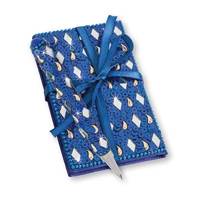 Royal Blue Bejeweled Notebook & Pen Set