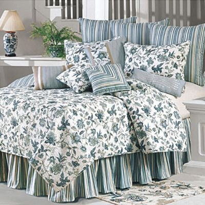 Jacobean Blue Euro Sham - 26sq.