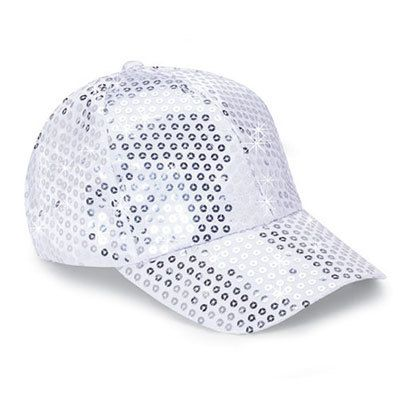 Silver Sequined Glamour Cap