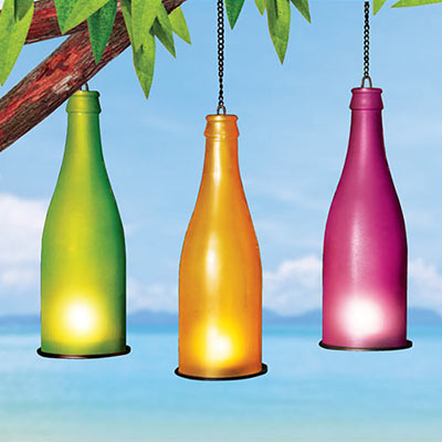 Colorful Tea Light Bottles