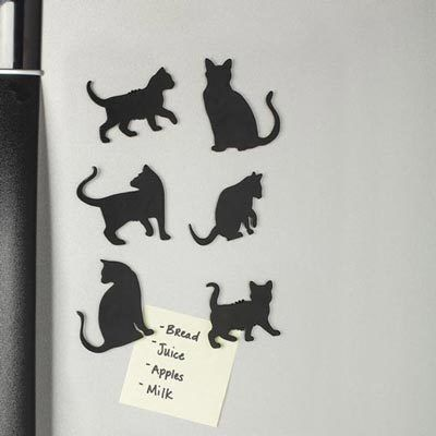 Cat Silhouette Magnets