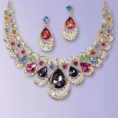 Brilliant Teardrop Jewelry Set