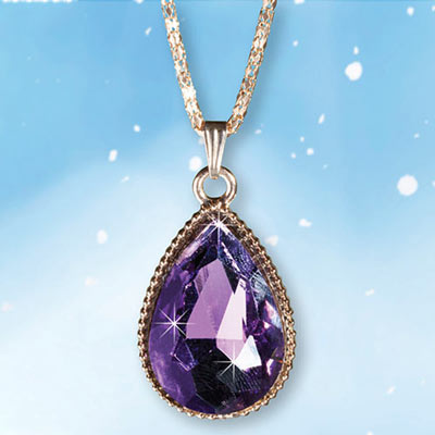 Purple Teardrop Necklace