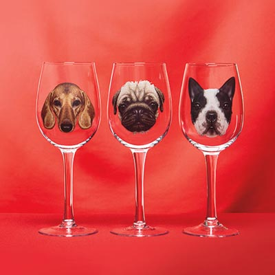 Dog Breed Wine Glass