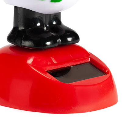 Solar Waving Snowman W/Hat