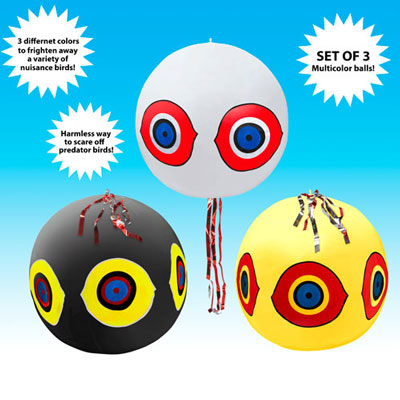 Balloon Bird Repellent - 3 Pack