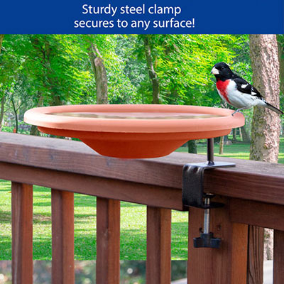 Deck Mount Bird Bath