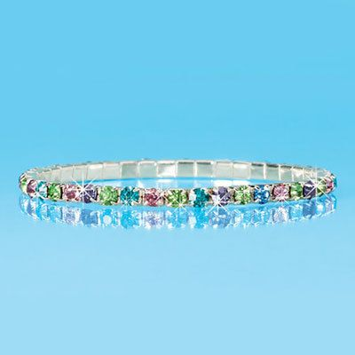 Stretch Pastel Tennis Bracelet