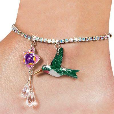 Hummingbird Anklet