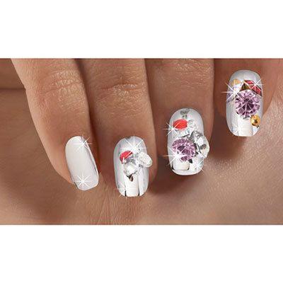 Opulent Gems Silver Nails