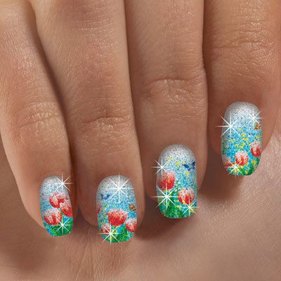 Tulip Fields Nail Appliqués