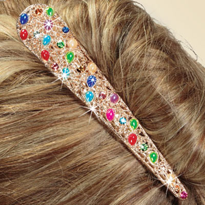 Filigree & Bejeweled Hair Clip