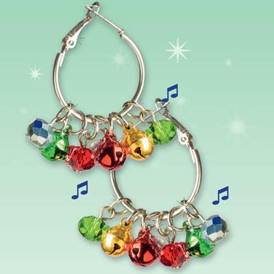 Jingle Bell Hoop Earrings