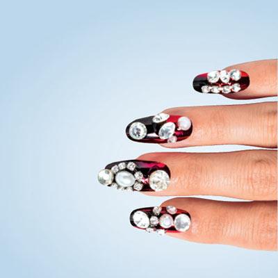 Royal Red Acrylic Nails